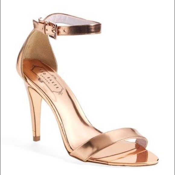 9ba1a3799 Ted Baker rose gold strappy sandals. M 5a666060077b9777d99b6176